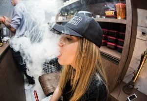 Figure 2picture of a woman vaping